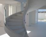 Лестница бетон винтовая