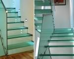 Стеклянная лестница тетива
